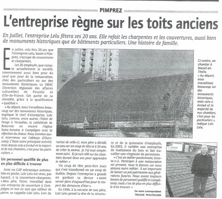 """Courrier Picard"" - Mars 2008"